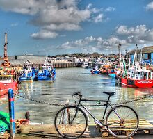 Whitstable Harbour Fishing village  by paulmuscat