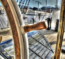 Ships Wheel - HMS Ganet  by paulmuscat