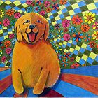 406 - HAPPY PUPPY - DAVE EDWARDS - MIXED MEDIA - 2014 by BLYTHART