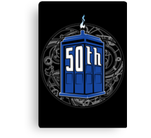 Happy 50th Tardis Canvas Print