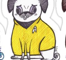Pug Trek Sticker