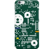 Motherboard Face - Green iPhone Case/Skin