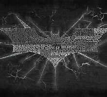 Batman The Dark Knight Rises Typography - Movie Quotes by SkahfeeStudios