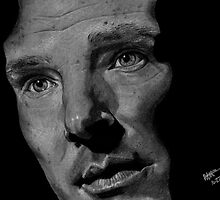 Benedict Cumberbatch on Grey Paper by Haleymoon