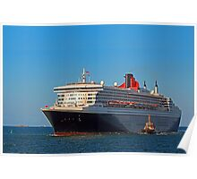 Queen Mary 2 - Fremantle Western Australia  Poster