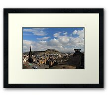 View from Edinburgh Castle to Arthurs Seat and beyond Framed Print