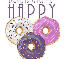 Donuts Make Me Happy by Adamzworld