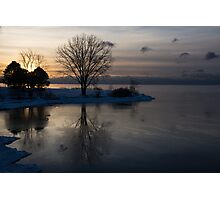 Gray Reflections and Ice Patches Photographic Print