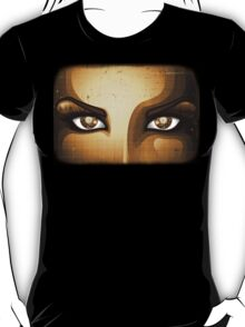 Steampunk Girl Eyes  T-Shirt