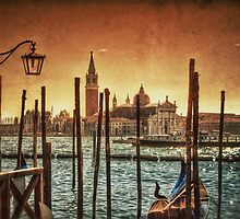 View of Venice & Gondolas by Scott Anderson