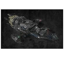 Firefly Serenity Ship Typography Photographic Print