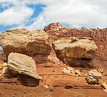 Giant Boulders at Capitol Reef by Kenneth Keifer
