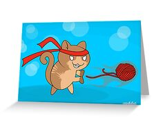 Cat-Ouken Greeting Card