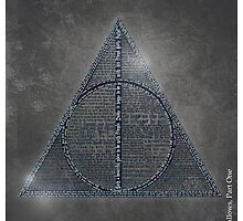 Deathly Hallows Art, Harry Potter Typography by SkahfeeStudios