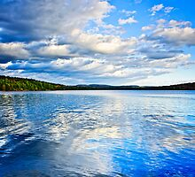 Lake reflecting sky by Elena Elisseeva