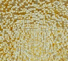 3D Cube Effect - Gold by lolohannah