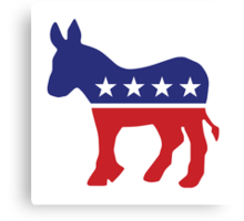 Democrat Original Donkey Canvas Print