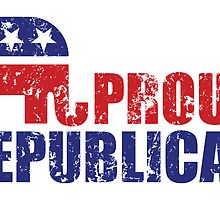 Proud Republican Elephant Distressed by Republican