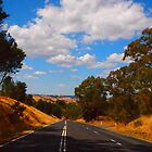 Going home, down the hill to Kilmore East VIC Australia by Margaret Morgan (Watkins)
