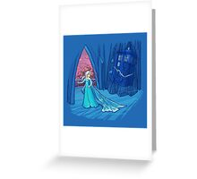 Frozen in Time and Space Greeting Card