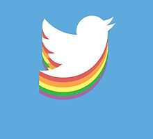 Twitter Bird Rainbow by bandate