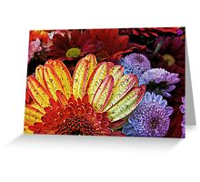 Beauty in the cracked canvas of faded colors Greeting Card