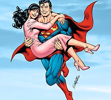 The Man of Steel Saves Lois by alrioart