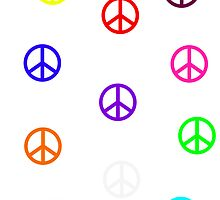 Rainbow Peace Signs by xox-