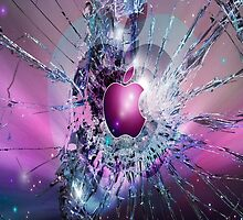 Cracked Apple Screen by xox-