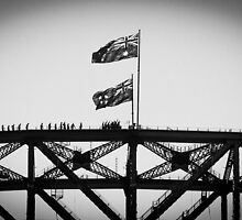 Climbers on Sydney Harbour Bridge by Cédric Tourasse