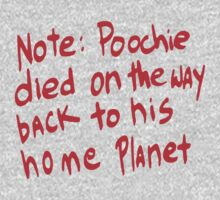Note: Poochie... by HalfFullBottle