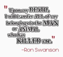Ron Swanson - DEATH by HalfFullBottle