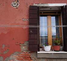 Red Wall With Window by adampower
