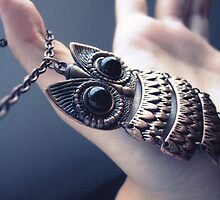 Owl Necklace  by Ocean Wong