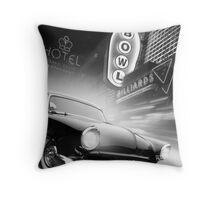 Cruise Night Bowling Throw Pillow