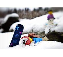 #snowboardfail Photographic Print
