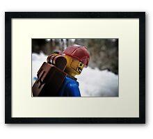 Back on the snowboard! Framed Print
