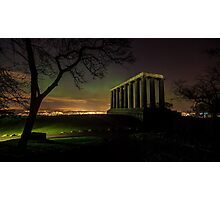 The Northern Lights (Aurora Borealis) from Calton Hill. Edinburgh Photographic Print