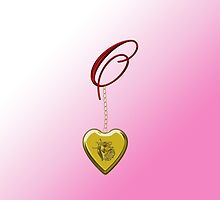 O Golden Heart Locket by Chere Lei