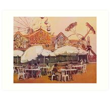 Between Amusements Art Print