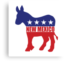 New Mexico Democrat Donkey Canvas Print