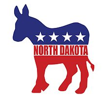 North Dakota Democrat Donkey by Democrat