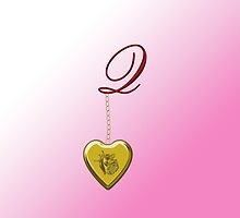 Q Golden Heart Locket by Chere Lei
