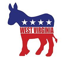 West Virginia Democrat Donkey by Democrat
