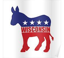 Wisconsin Democrat Donkey Poster