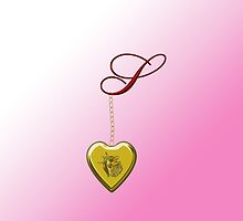 S Golden Heart Locket by Chere Lei