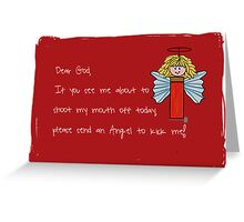 Bullet Angel  Greeting Card