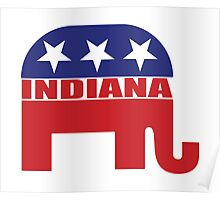 Indiana Republican Elephant Poster