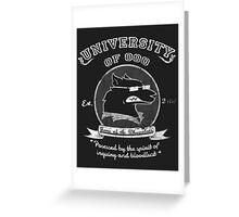 University of Ooo Greeting Card