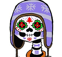 Winter sports sugar skull by motoko-yo